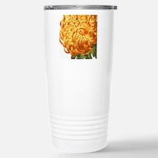 Orange Chrysenthemum Travel Mug