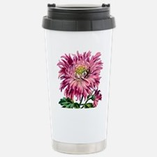 Pink Chrysanthemum Stainless Steel Travel Mug