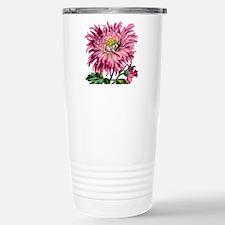 Pink Chrysanthemum Travel Mug