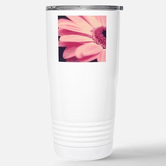 Pretty Pink Daisy Stainless Steel Travel Mug