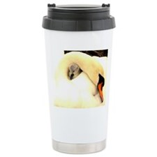 Mother Swan and Baby Travel Mug