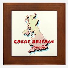 Great Britain Map Framed Tile