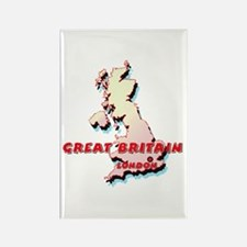 Great Britain Map Rectangle Magnet