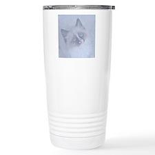 Snowy Kitten round Travel Mug