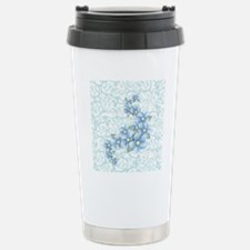baby blue flowers Travel Mug