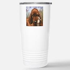 Irish Setter Pup by Daw Stainless Steel Travel Mug