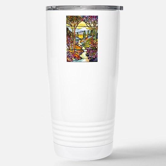 Tiffany Landscape Windo Stainless Steel Travel Mug