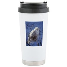 Snowy White Owl Travel Coffee Mug