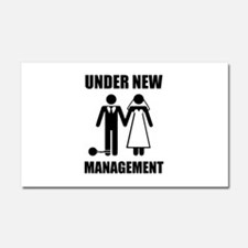 Just Married, Under New Management Car Magnet 20 x