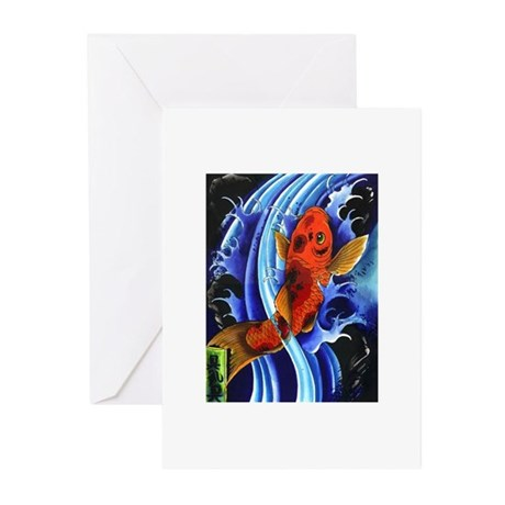 Koi Flash Greeting Cards (Pk of 10)
