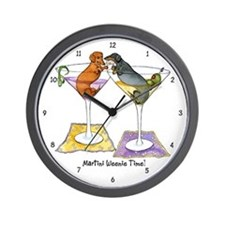 Double Cocktail Wiener Wall Clock