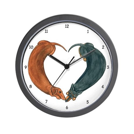 Dachshunds for life Wall Clock