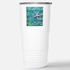 Starfish and Turquoise  Travel Mug