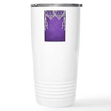 Purple Lace and White P Travel Mug
