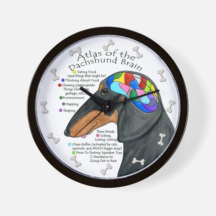 Dachshund Brain (BT) Wall Clock