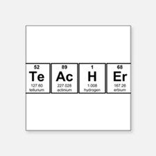 Science Teacher Chemical Elements Sticker