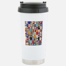 Colorful Patchwork Quil Thermos Mug