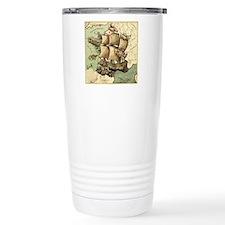 Ancient Map Thermos Mug