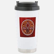 fleur-wood-inlay-TIL Stainless Steel Travel Mug