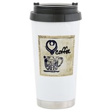 Love Coffee Art Travel Mug
