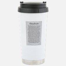 The Desiderata Poem by  Travel Mug