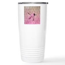 Pink Crane Travel Coffee Mug
