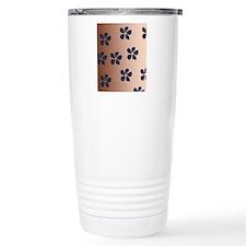Blue Blossom Flowers Travel Mug