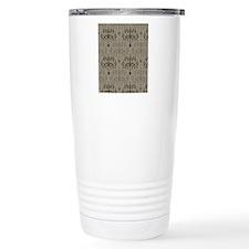 Brown Chandeliers Travel Mug