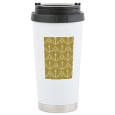 Gold Chandeliers Travel Coffee Mug