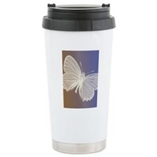 White Butterfly Travel Mug
