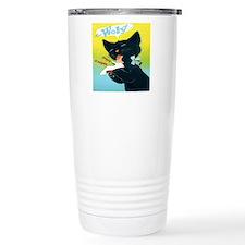 Vintage Woly Black Cat  Travel Mug