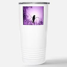 Violet Ringed Crow Travel Mug