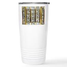 Yellow Gold and Diamond Travel Coffee Mug
