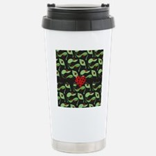 Ladybug Heart Stainless Steel Travel Mug