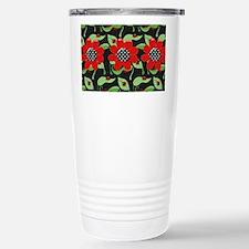 Ladybugs and Flowers Travel Mug