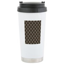 Black Damask Thermos Mug
