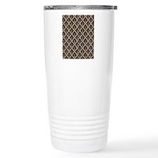 Black Damask Travel Mug