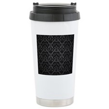 Elegant Black Flourish Travel Mug