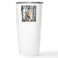 Great Gray Owl Travel Coffee Mug