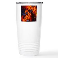 Abstract Dance of the D Travel Coffee Mug