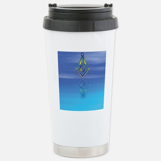 Masonic Seascape Stainless Steel Travel Mug