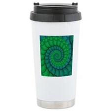 Blue and Green Fractal  Travel Mug