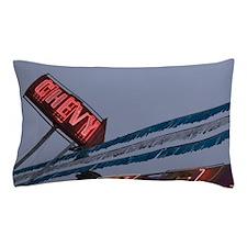 Chevy Car Dealer Neon Sign Old Strathc Pillow Case