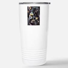 Nerve synapse, artwork Stainless Steel Travel Mug