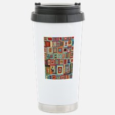 Colorful Crazy Quilt Fl Travel Mug
