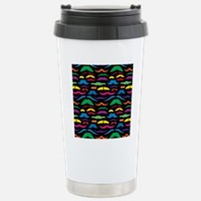 Mustache Color Pattern  Stainless Steel Travel Mug