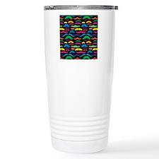 Mustache Color Pattern  Travel Mug