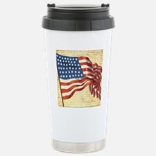 Vintage American Flag P Stainless Steel Travel Mug