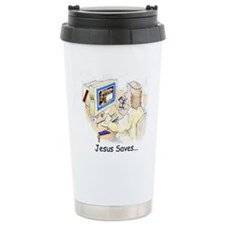 Jesus Saves Travel Coffee Mug