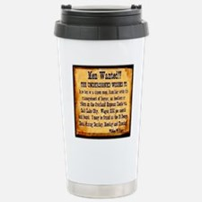 MEN WANTED Travel Mug